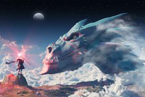fantasy art dragon digital art creature