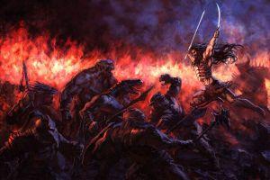 fantasy art fantasy men battle warrior