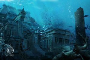 fantasy art fish underwater architecture seven lions music