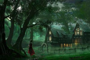 fantasy art forest fantasy girl