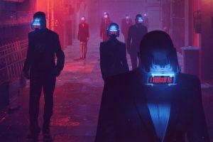fantasy art futuristic cyberpunk digital art science fiction people robot