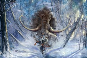 fantasy art mammals mammoths artwork