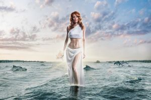 fantasy art nature women model digital art
