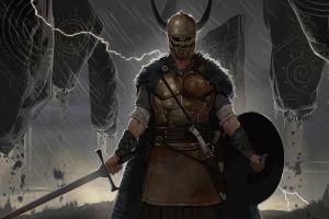 fantasy art warrior sword