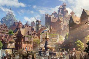 fantasy city windmill fantasy art