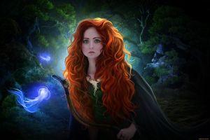 fantasy girl disney princess merida redhead brave fantasy art long hair