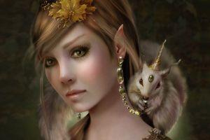 fantasy girl fantasy art face