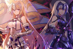 fate series sword flag anime girls jeanne d'arc fantasy girl jeanne (alter) (fate/grand order) anime armored