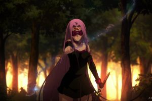 fate/stay night: unlimited blade works fate series fantasy weapon purple hair rider (fate/stay night)