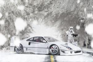 ferrari ferrari f40 sergey volkov stormtrooper car vehicle