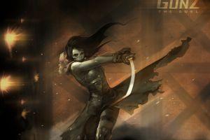 fighting girls with swords gunz women with swords sword video game art warrior video games games art gunz: the duel warrior girls