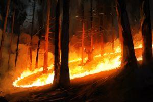 fire digital art fantasy art dominik mayer