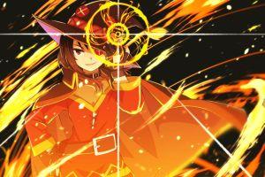 fire megumin kono subarashii sekai ni shukufuku wo! explosion