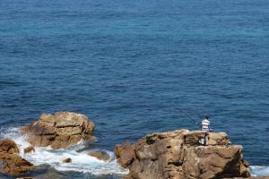 fishing atlantic ocean nature rocks sea