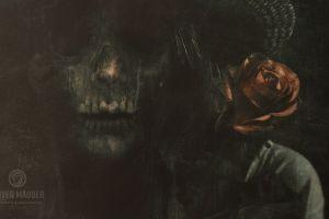 flowers dead dark skull 500px