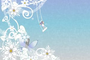 flowers fairies leaves illustration swings