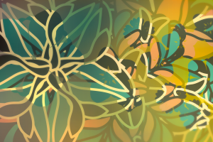 flowers pattern abstract
