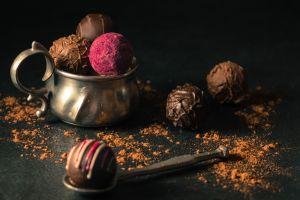 food chocolate sweets truffles