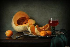 food fruit knife drinking glass still life