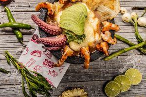 food lemons vegetables seafood