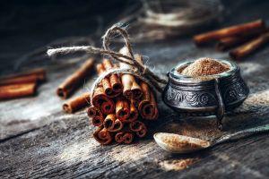 food spoon rustic cinnamon still life