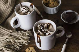 food sweets cup spoon dessert