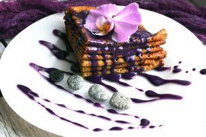 food sweets purple flowers