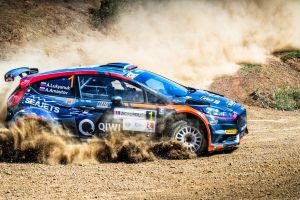 ford fiesta ford vehicle racing car blue cars rally dirt