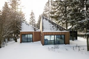 forest architecture modern house snow