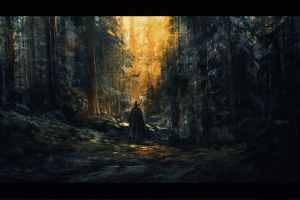 forest gandalf artwork digital wizard fantasy art concept art the lord of the rings