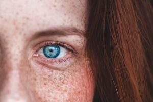 freckles eyes blue eyes women redhead