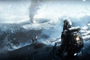 frostpunk video game art video games snow