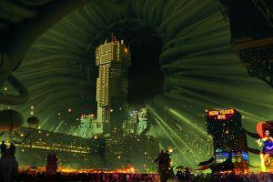 futuristic artwork futuristic city cyberpunk