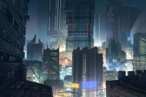 futuristic city artwork futuristic cyberpunk