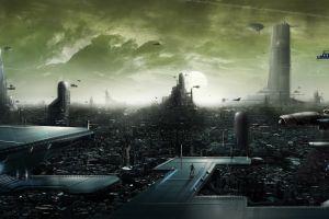 futuristic city digital art futuristic cityscape