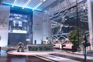 futuristic science fiction robot