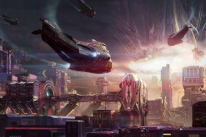 futuristic science fiction spaceship