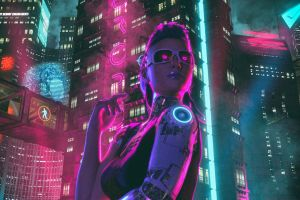 futuristic synthwave david legnon artwork cyberpunk