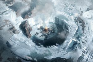 games art smoke city artwork frostpunk video game art video games snow