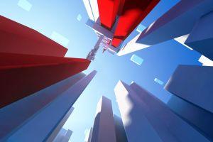 geometry mirror's edge digital art boxes