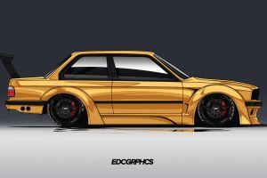 german cars bmw m3 e30 side view render bmw edc graphics