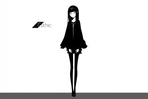 glasses meganekko [emailprotected]  skirt shirt anime girls simple background long hair pantyhose original characters