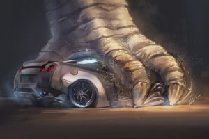 godzilla car nissan gtr artwork