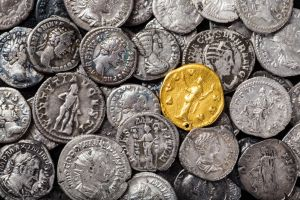 gold old metal coins