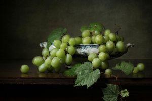 grapes still life food fruit