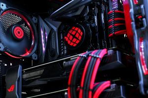 graphics card asus sli pc gaming cooling fan red