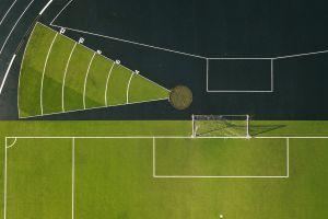 grass stadium aerial view