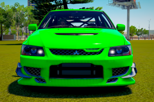 green cars mitsubishi forza horizon 3 lancer evolution viii  mitsubishi car video games