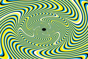 green digital art abstract optical illusion