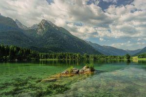 green mountains lake hintersee austria